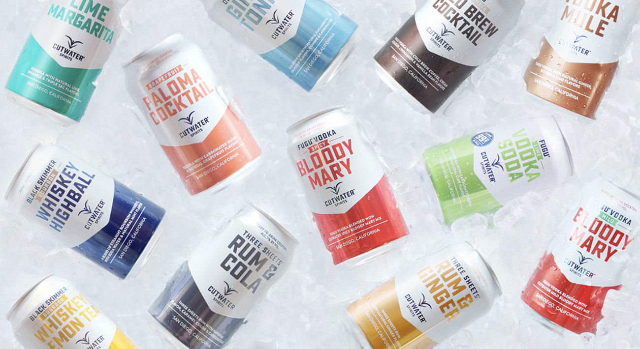 cutwater spirits cocktails in a can