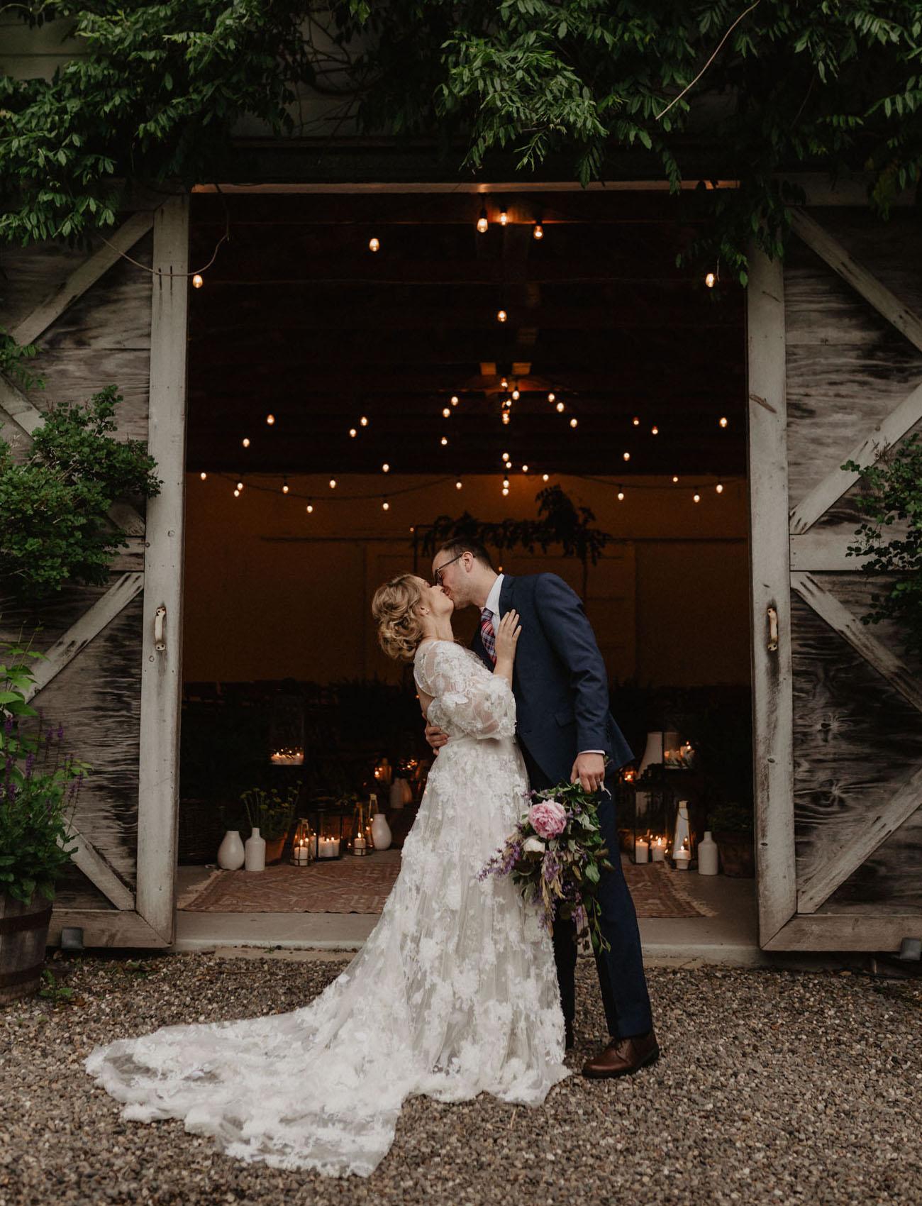 Fairy Light Barn Wedding Inspiration