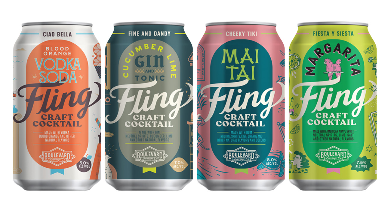 fling cocktails in a can