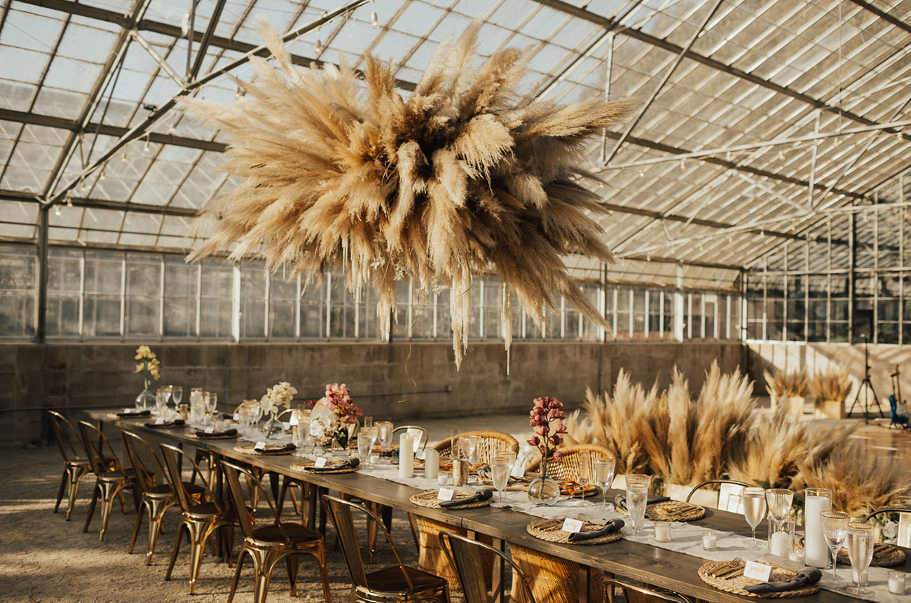 Modern Greenhouse Wedding