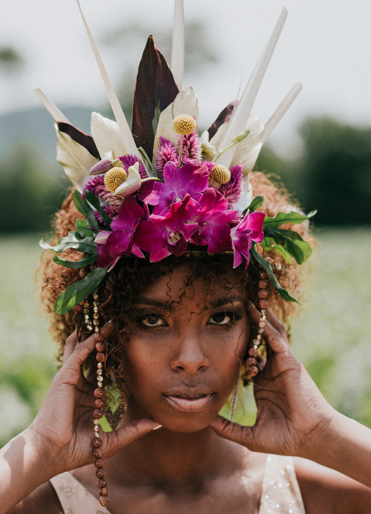 orchid flower head piece