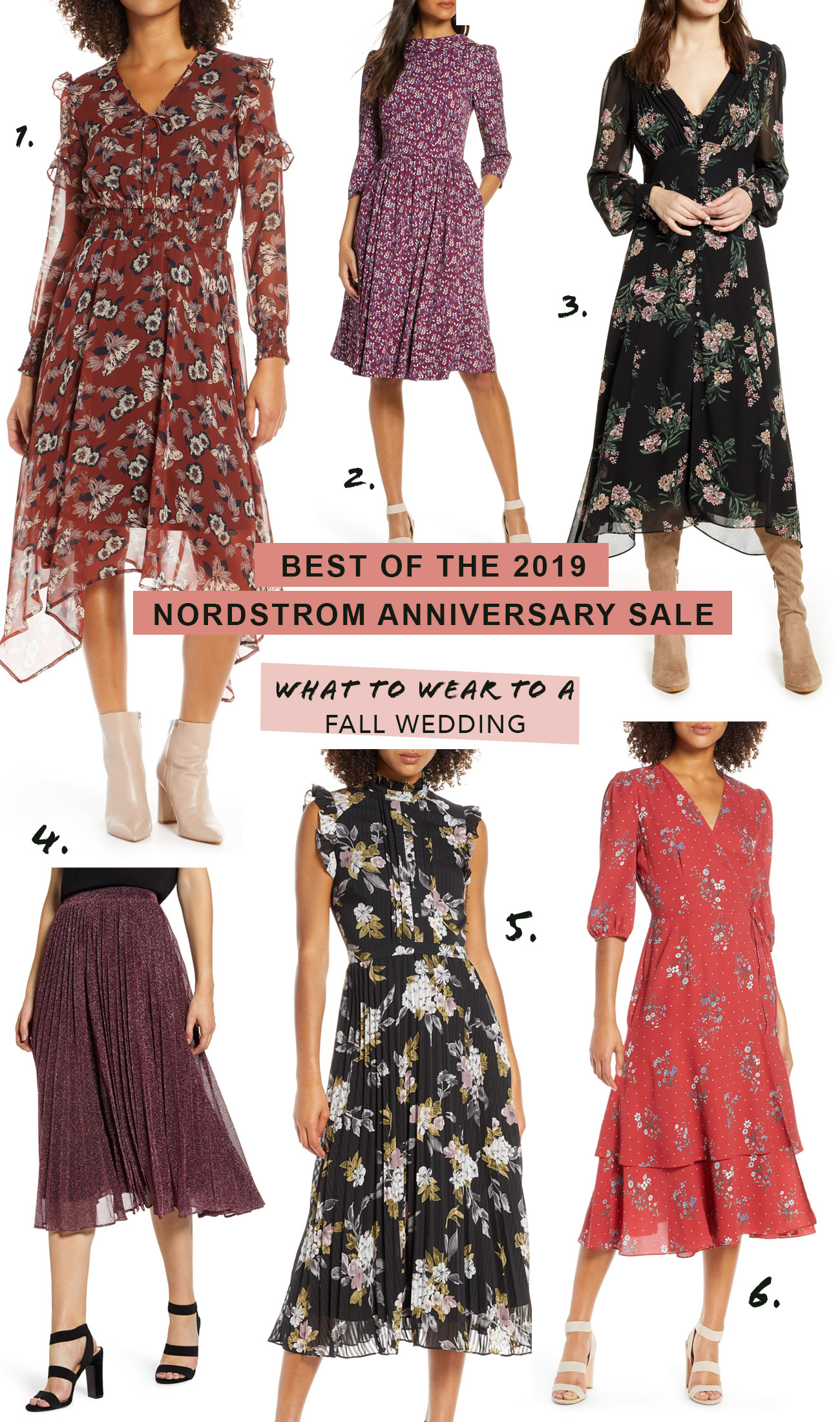 Nordstrom Anniversary Sale - Favorite Dresses to wear to a Fall Wedding