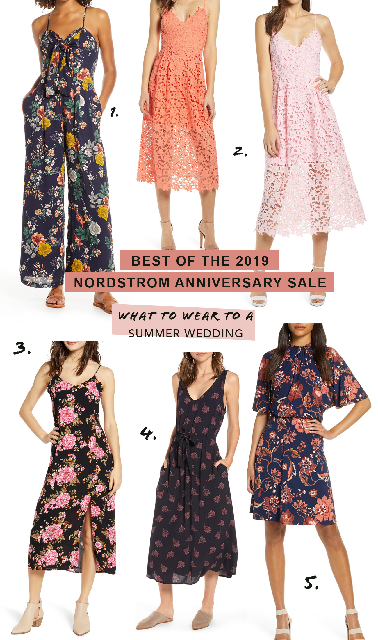 Nordstrom Anniversary Sale - Favorite Dresses to wear to a Summer Wedding