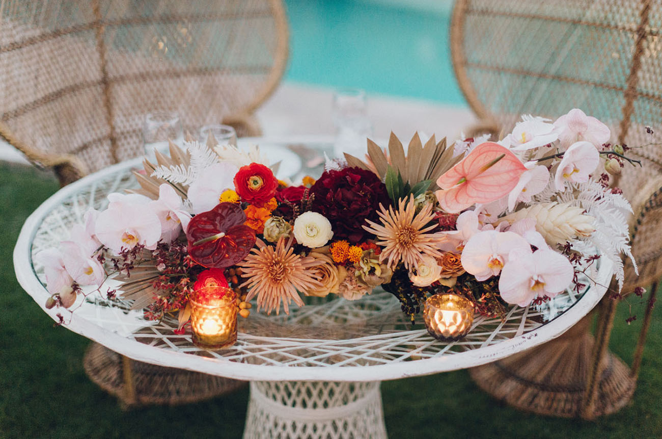 Retro Modern Palm Springs Wedding