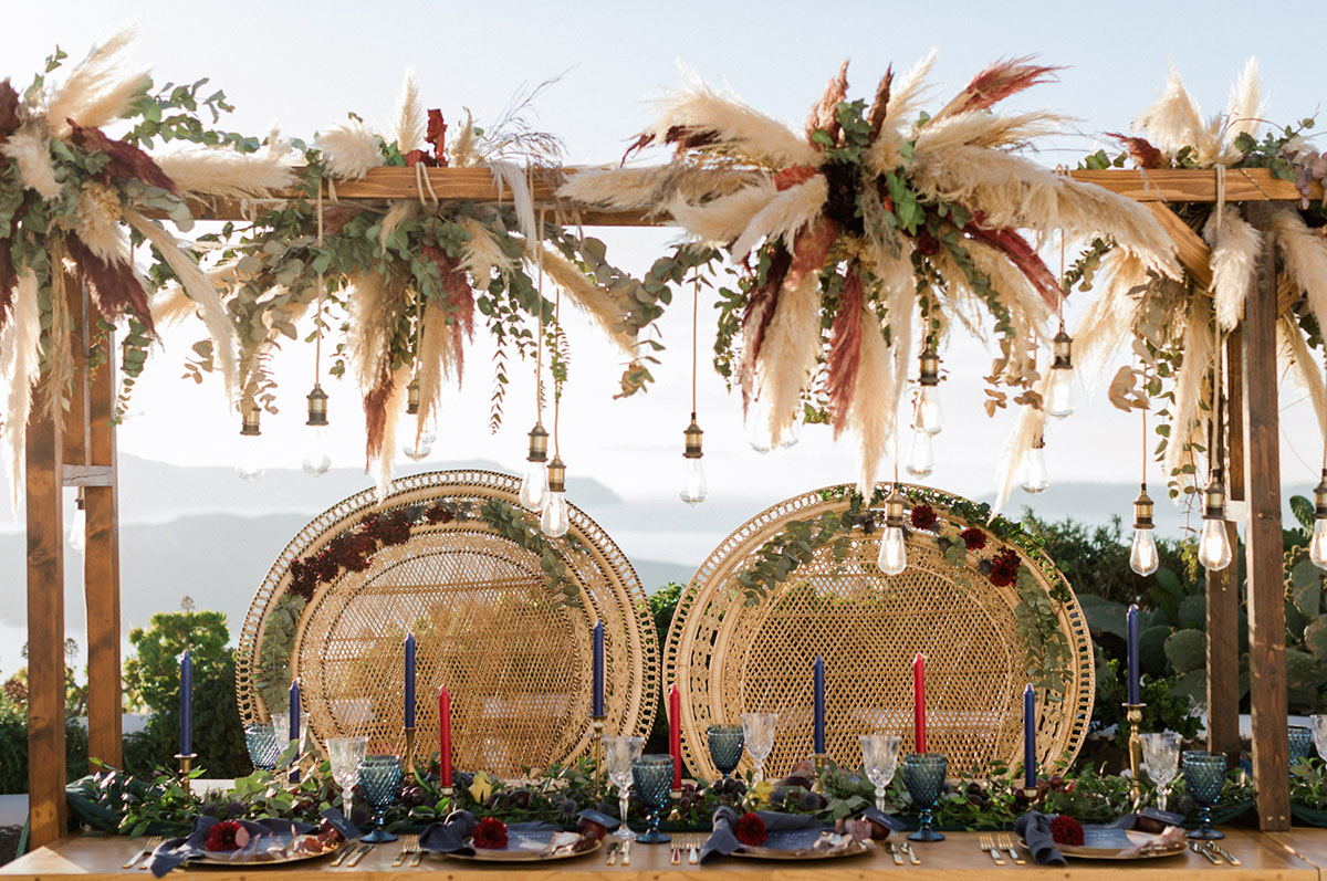 pampas grass floral hanging