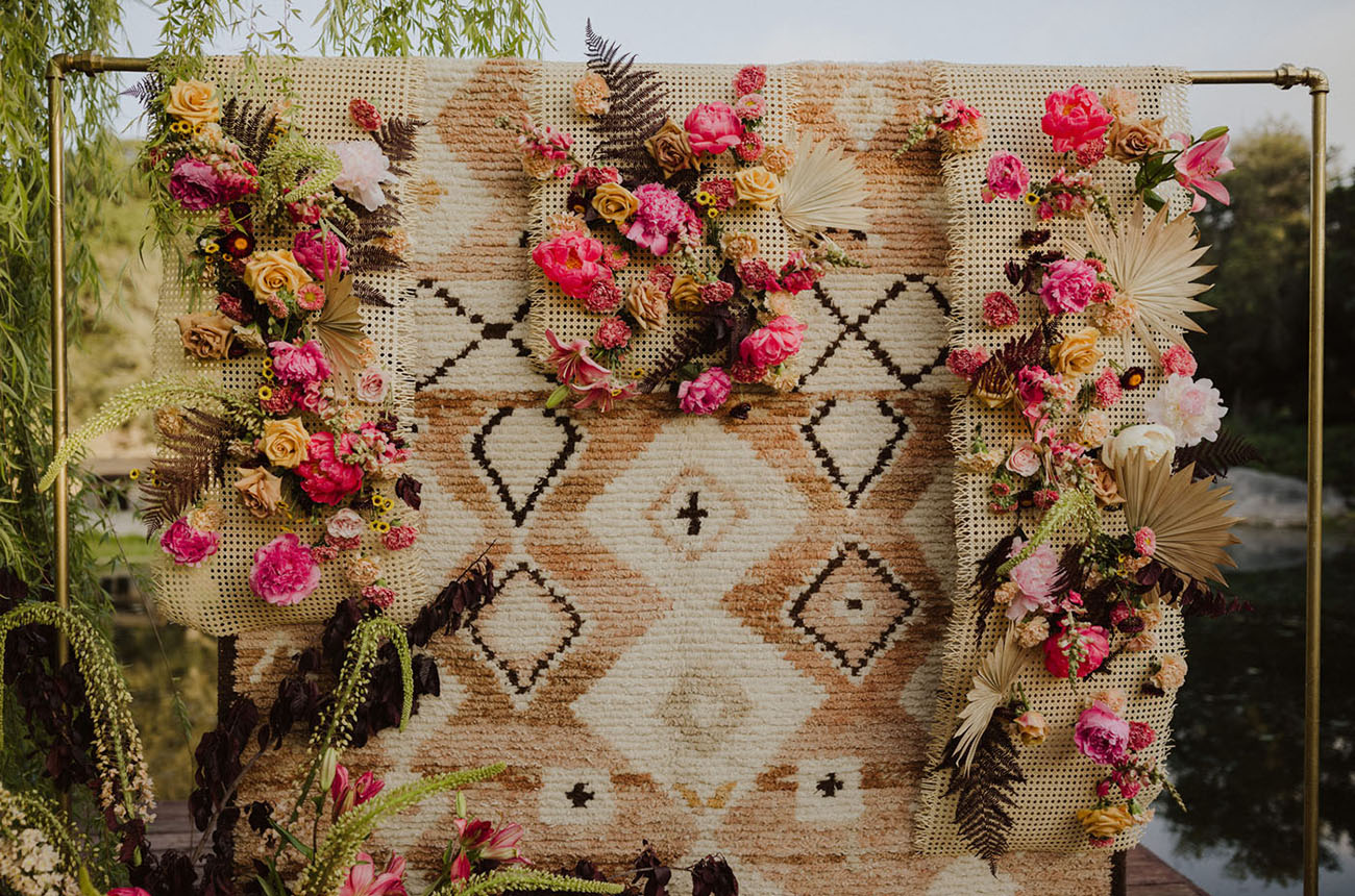 boho rug backdrop