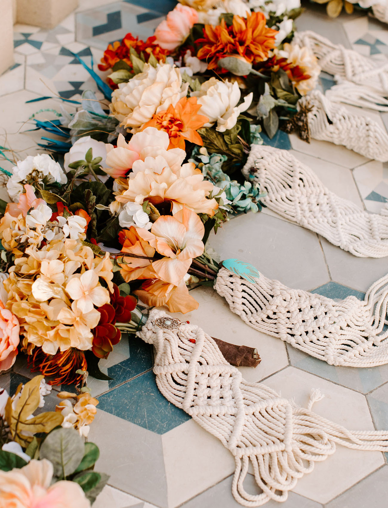handmade macrame bouquets