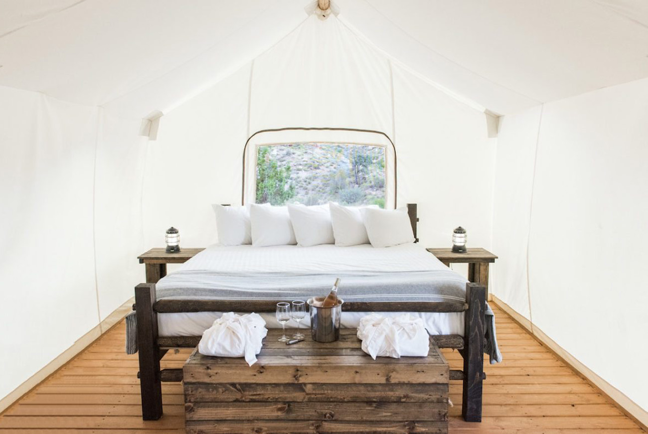 bed at under canvas zion