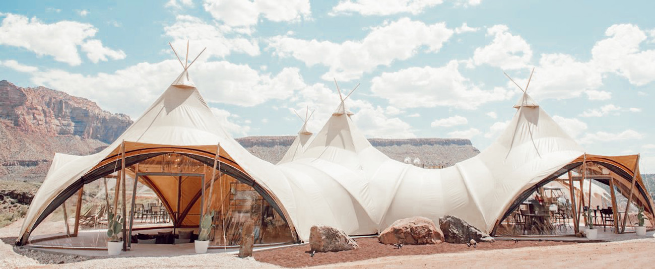 Under Canvas Zion Dining Tent