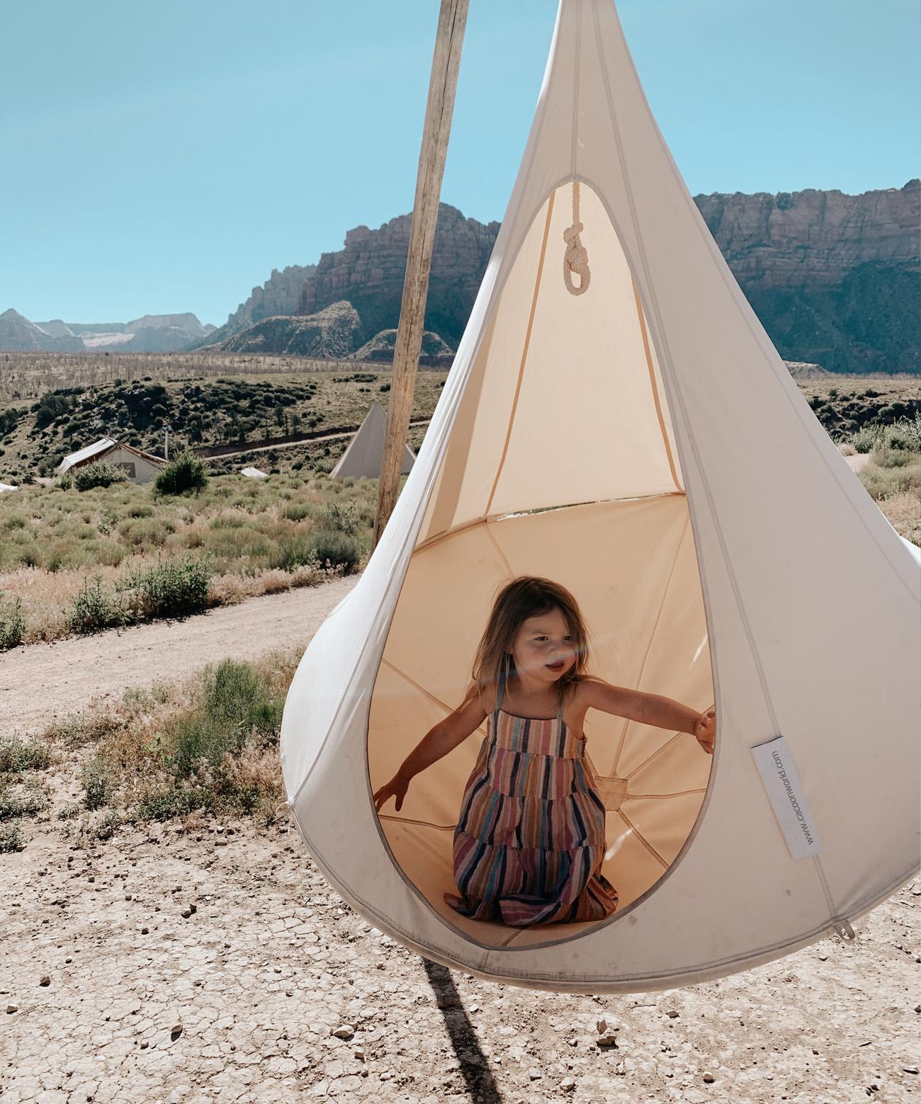 Under Canvas Zion Swing Tent