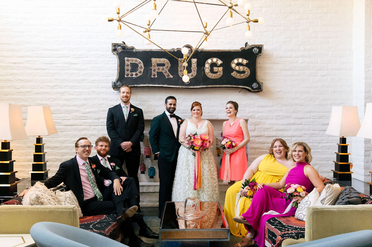 Elegant and Wacky Palm Springs Wedding