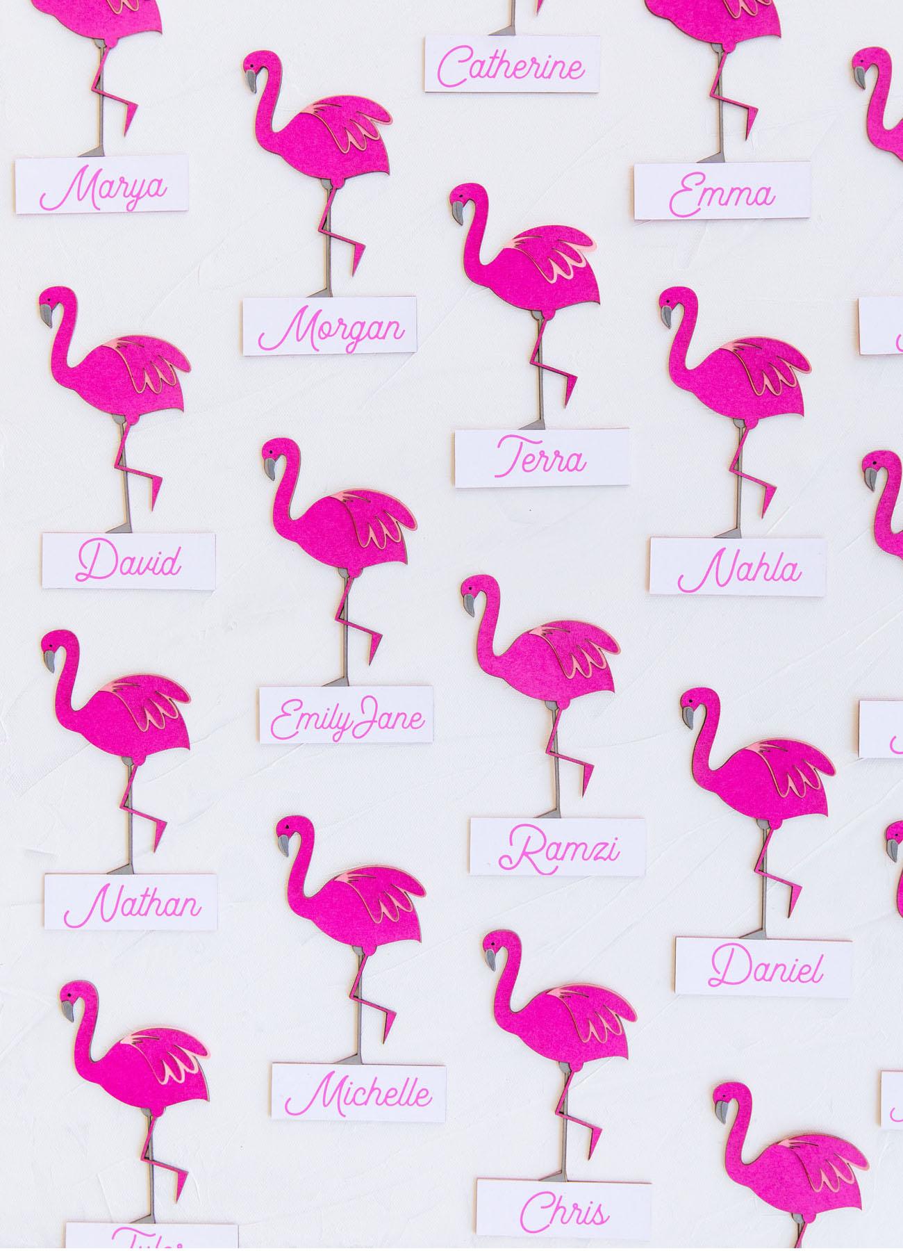 flamingo escort cards