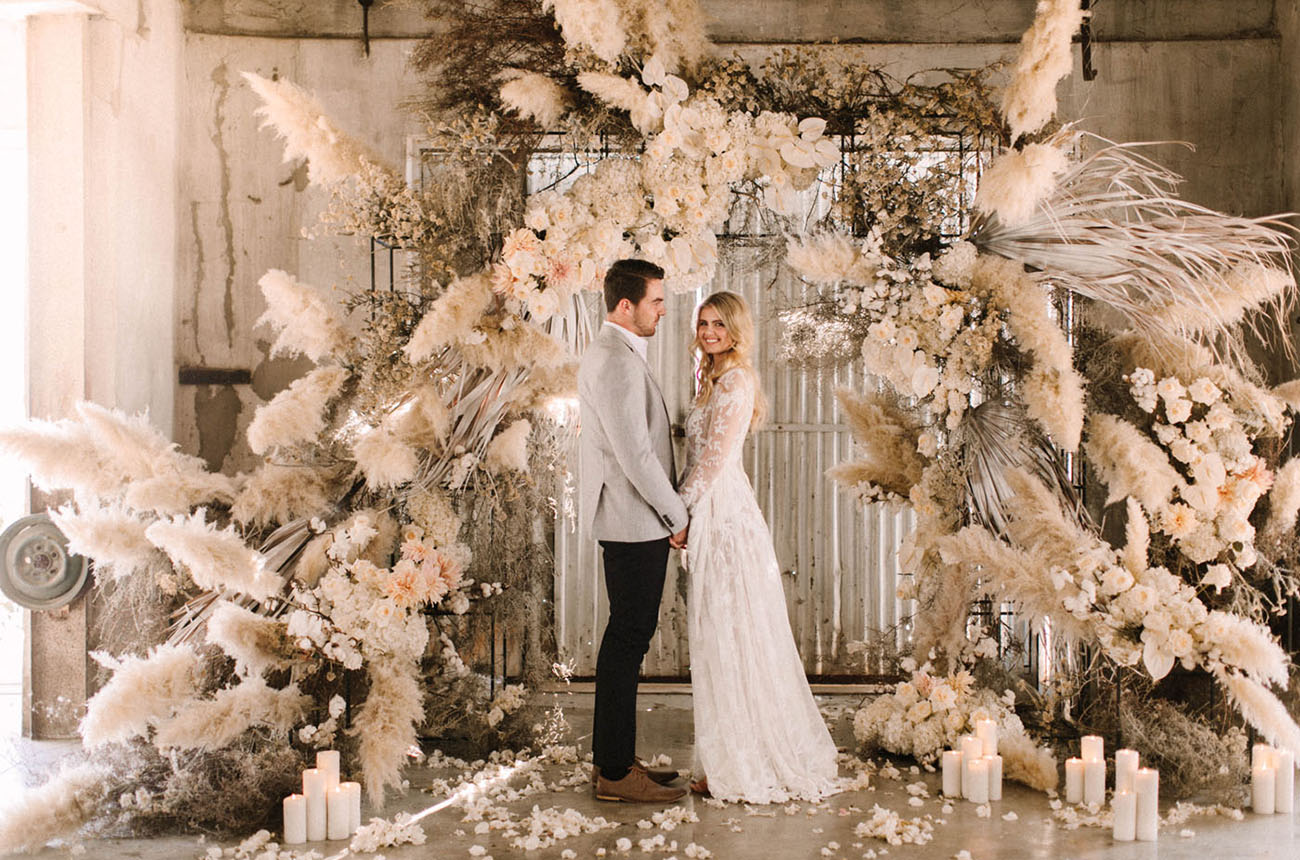 White Textured Wedding Inspiration