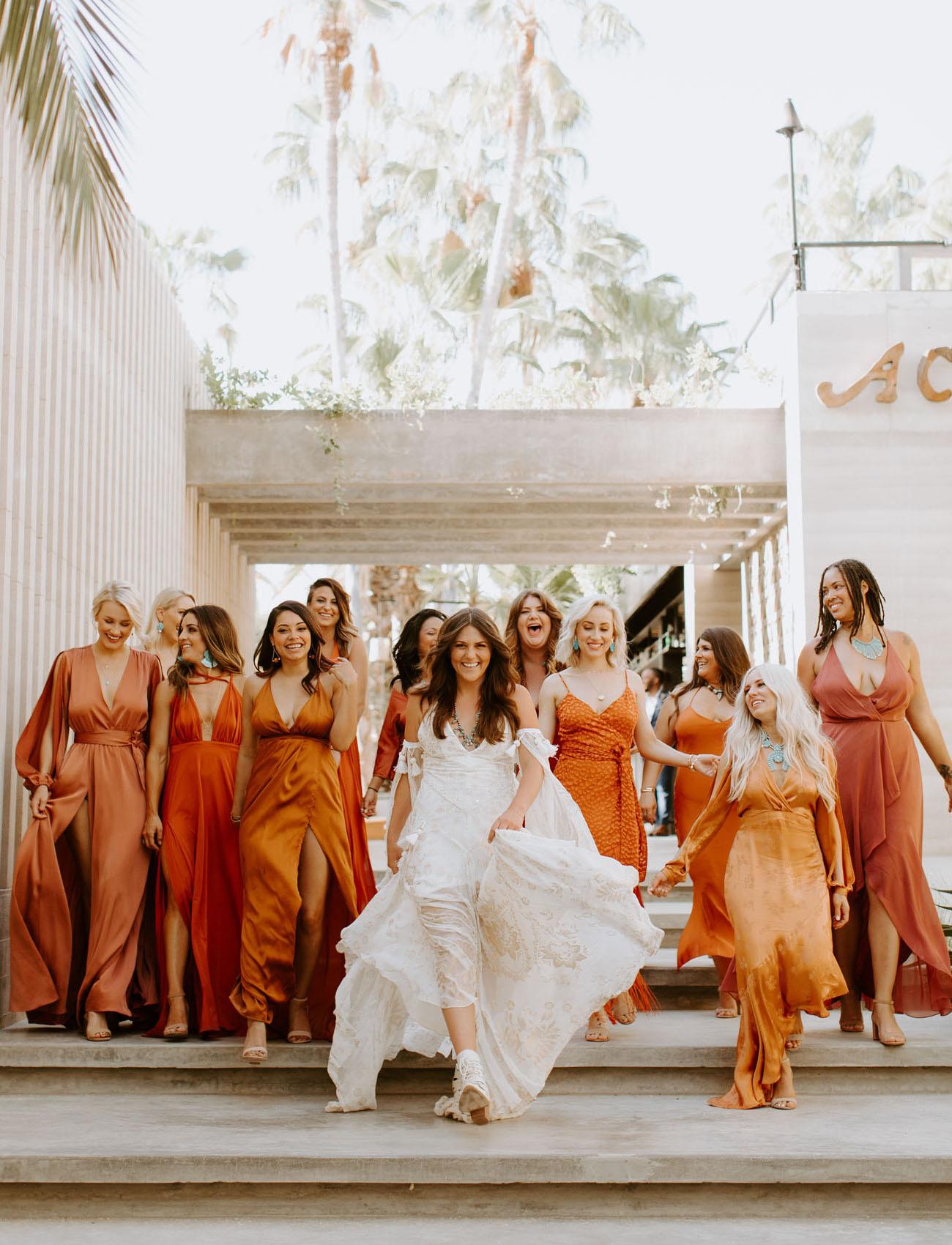 rust terracotta bridesmaids