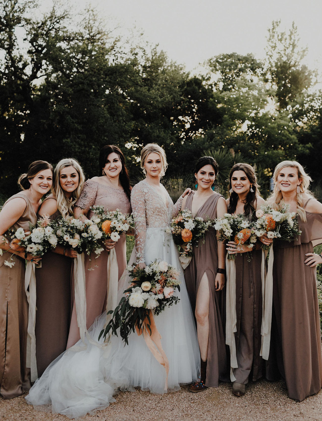 taupe bridesmaids