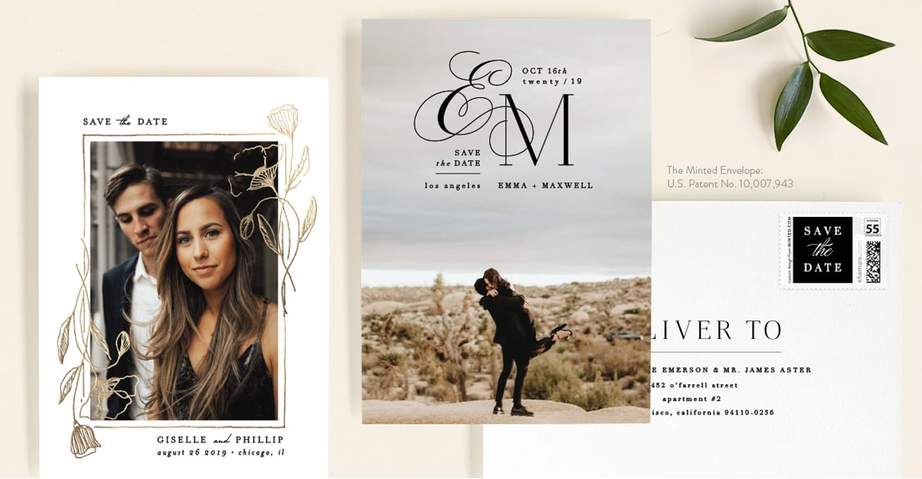 Save 25% on Your Wedding Save the Dates this Weekend at Minted