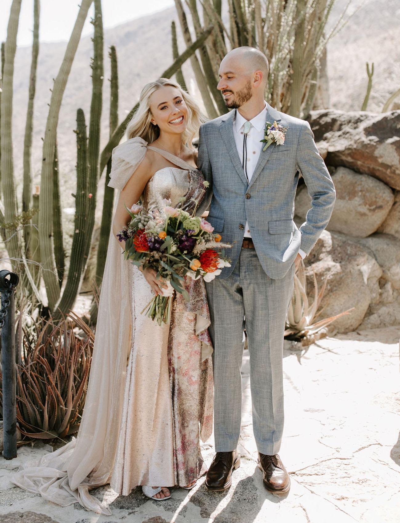Custom Sequin Jumpsuit Wedding