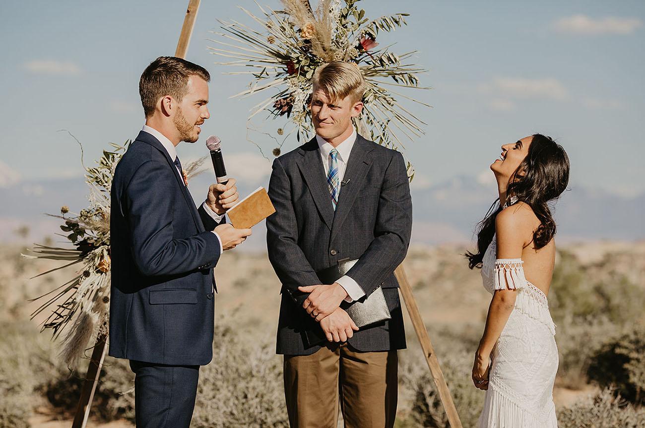 Under Canvas Moab Wedding