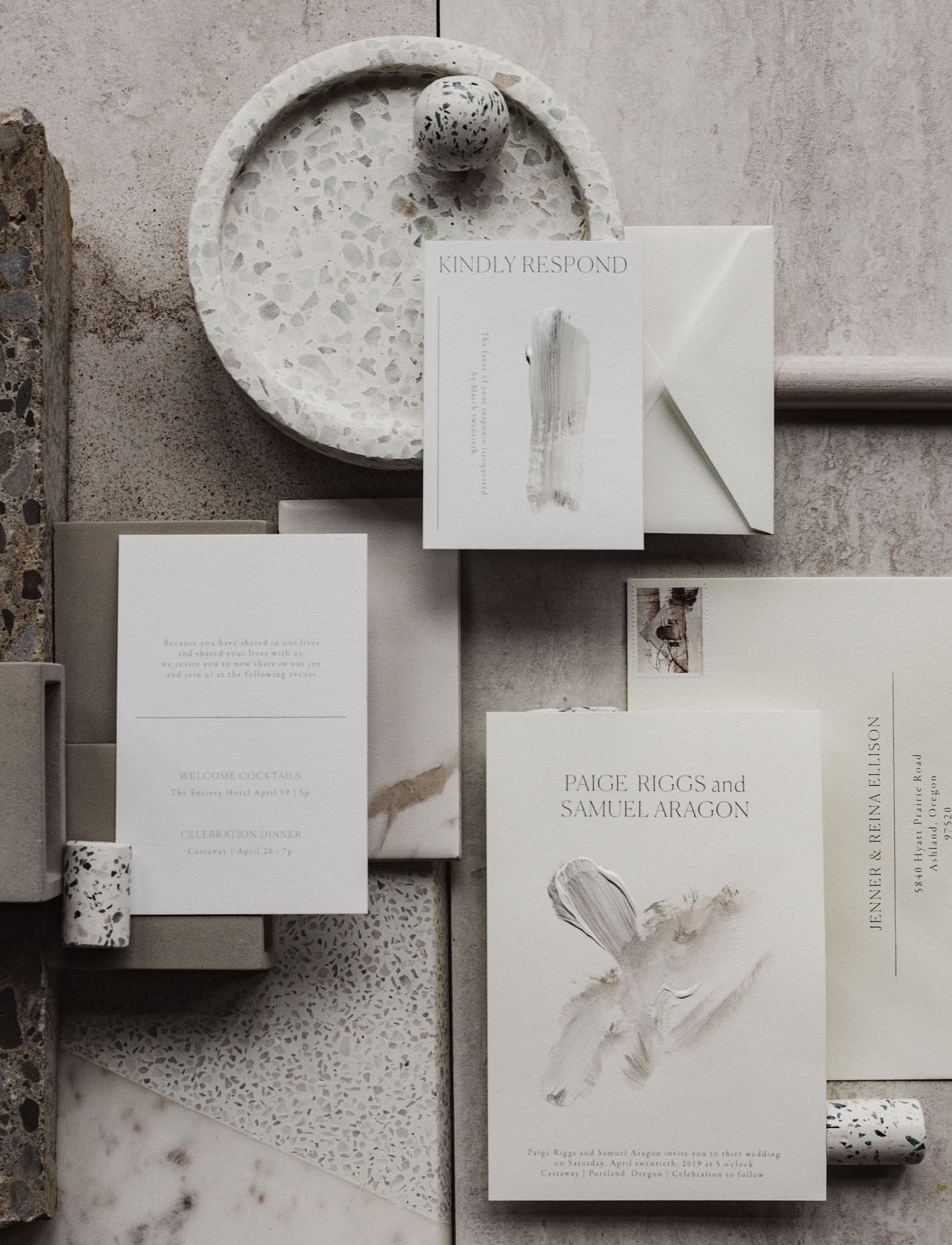 industrial wedding invitation