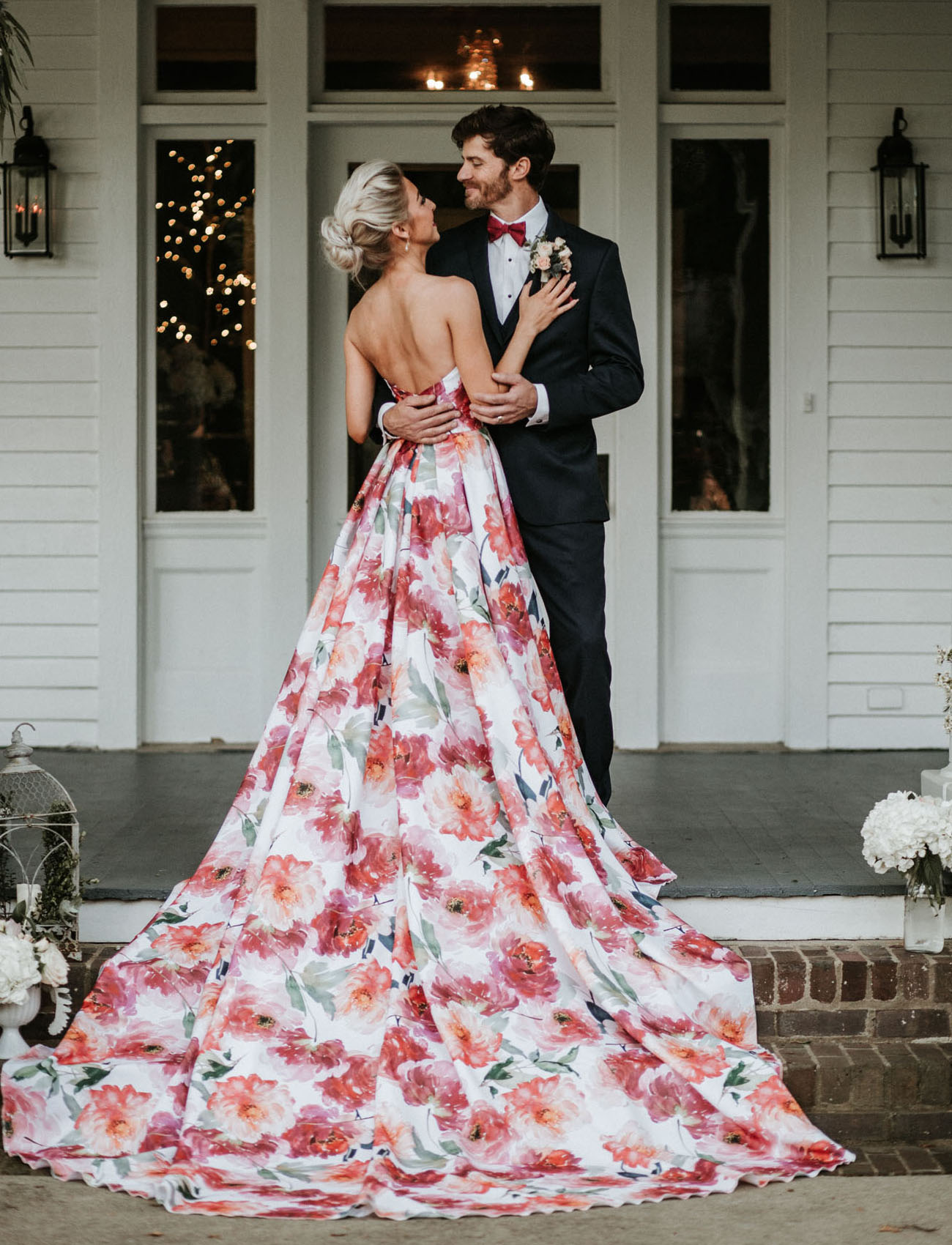 And The Bride Went Bold A Floral Wedding Dress For The Vibrant