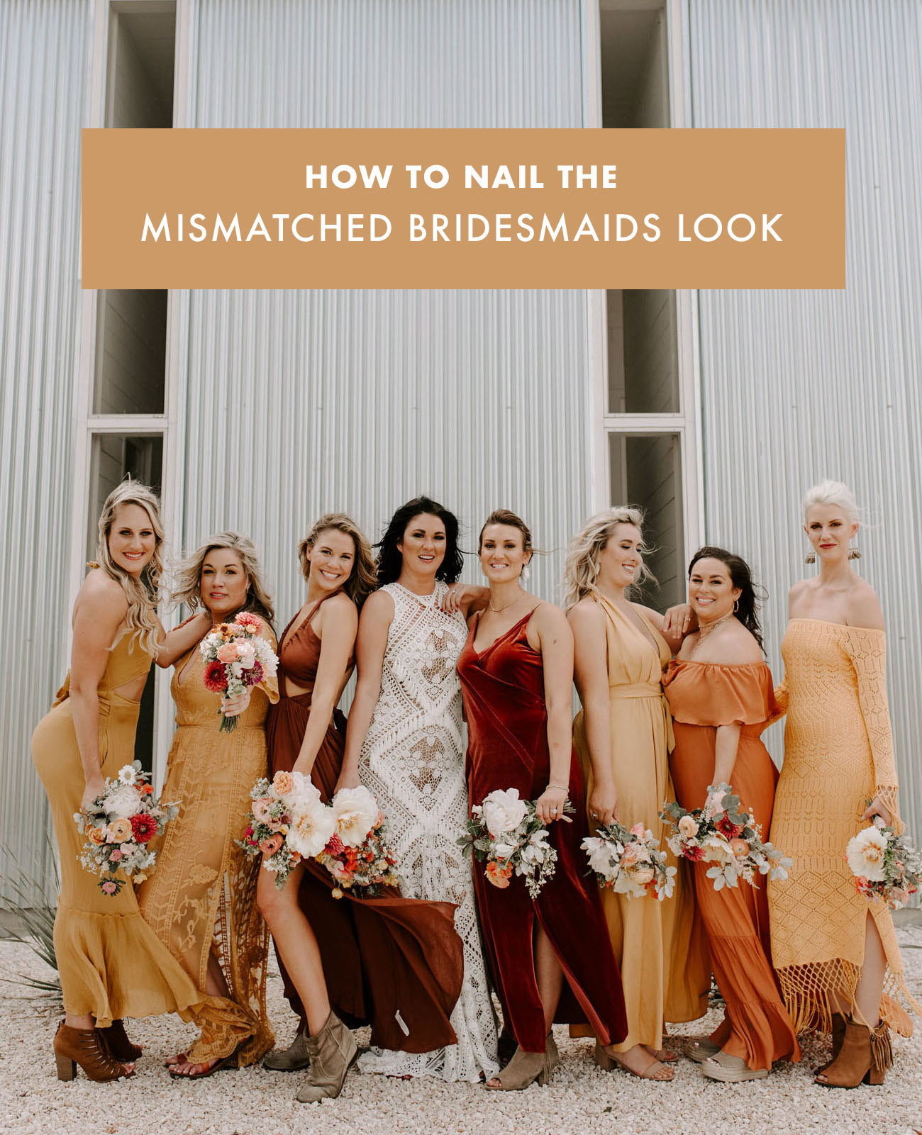 How to Do Mismatched Bridesmaids Dresses
