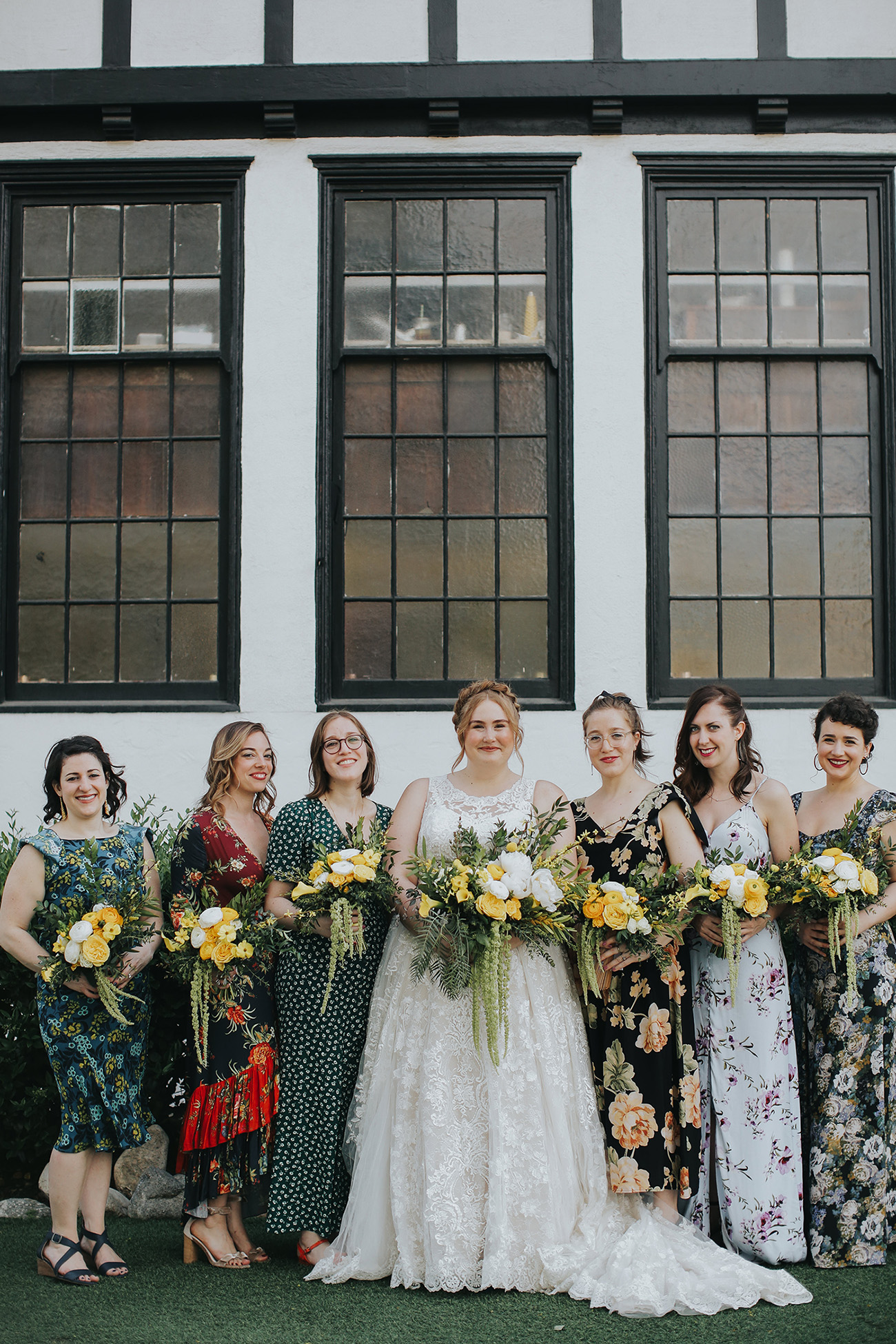 floral mismatched bridesmaids