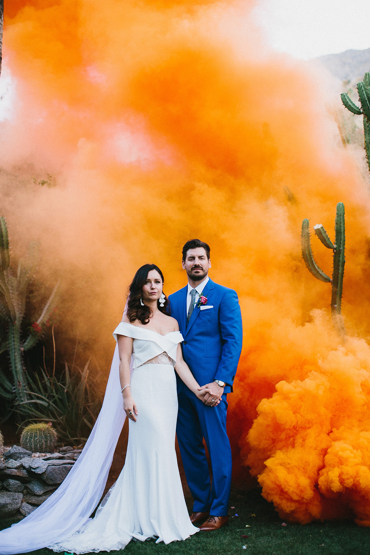 orange Palm Springs smoke bomb