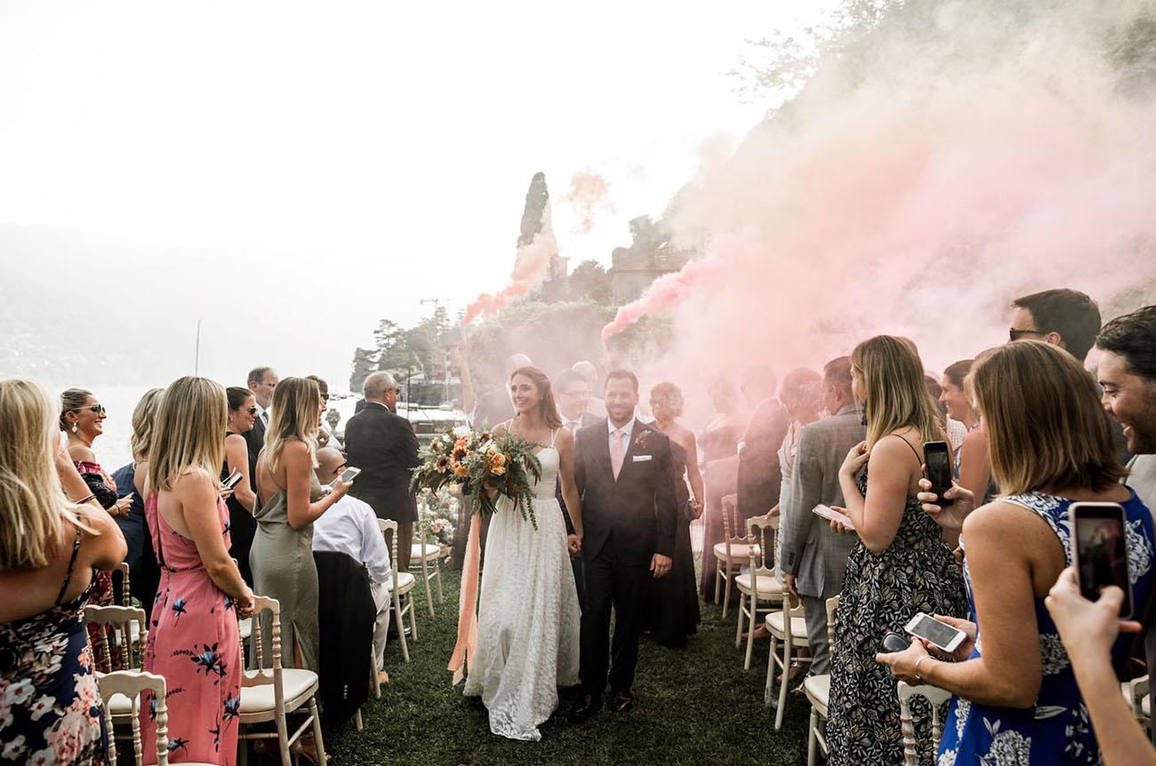smoke bomb ceremony exit