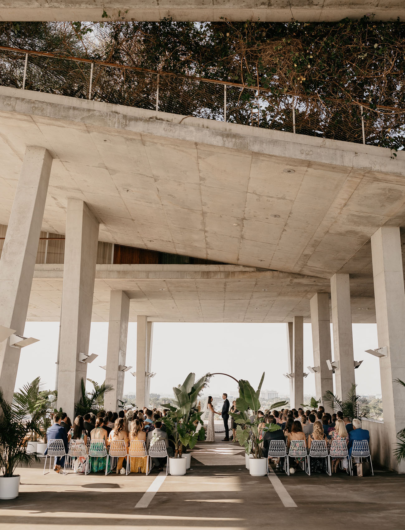 Modern Wedding in a Parking Garage