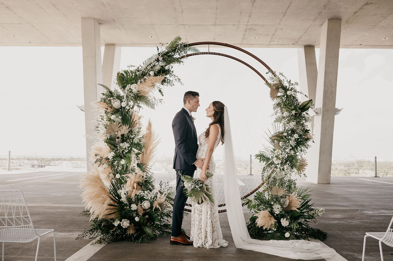 Married In A Parking Garage The Coolest Modern Wedding In