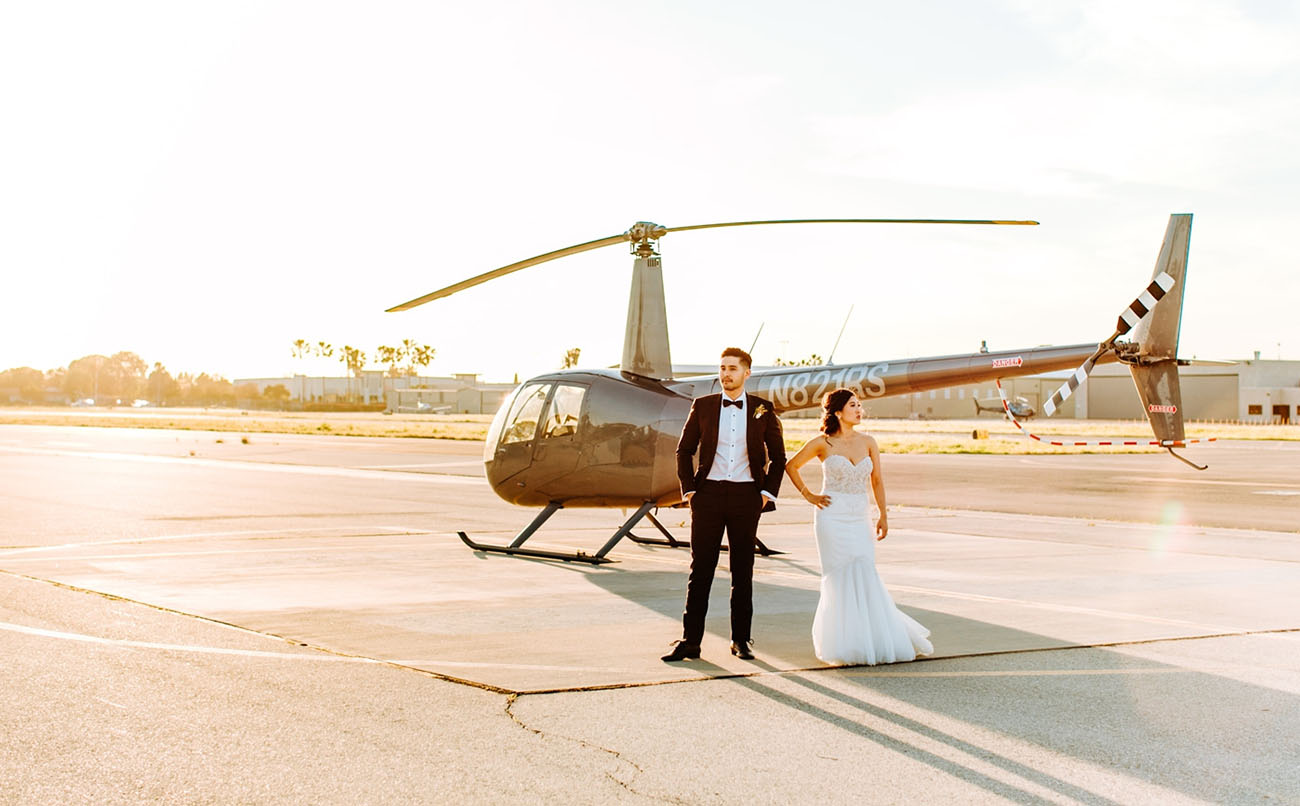 Modern Hangar Wedding