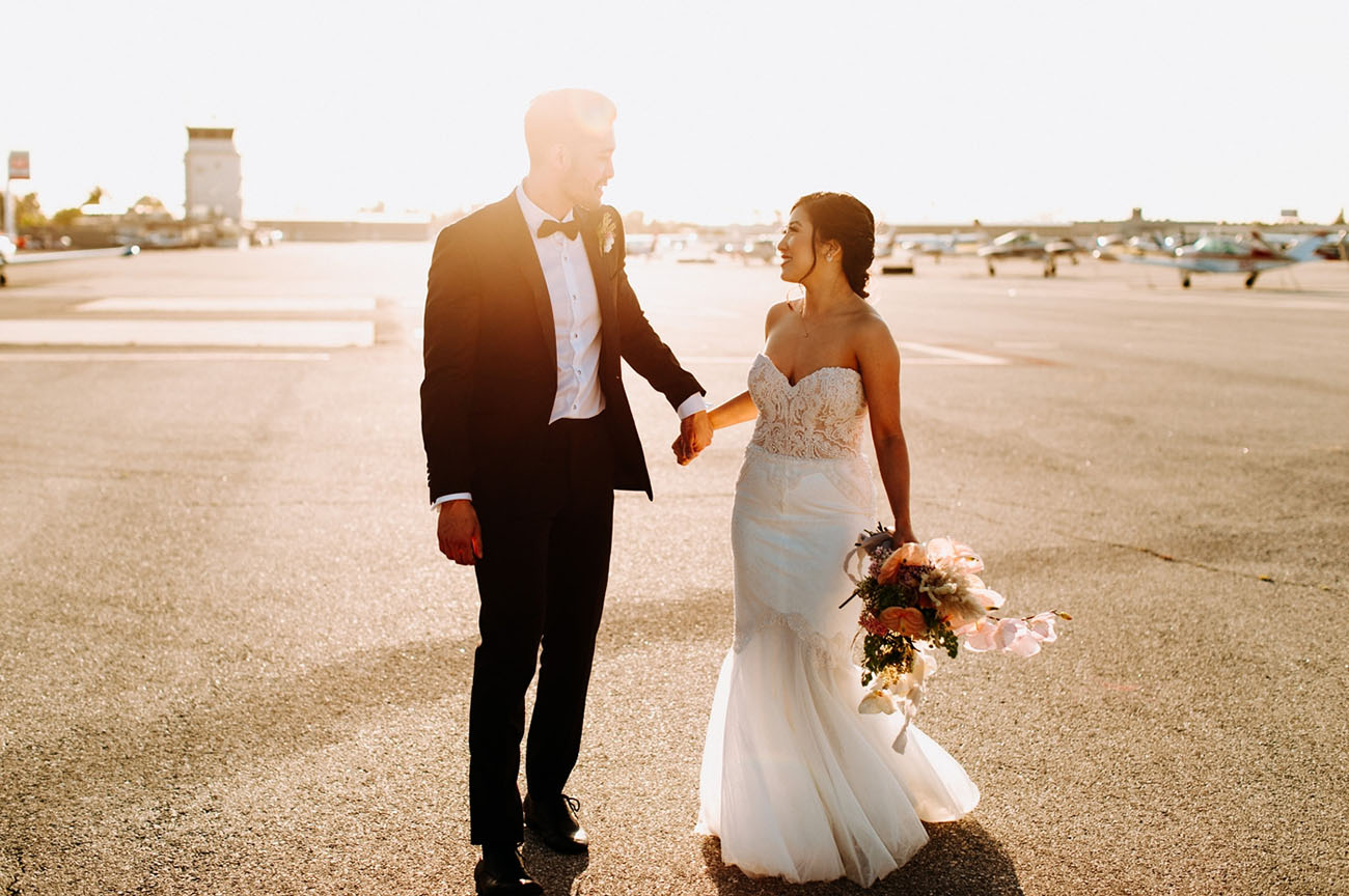 Modern Hangar Wedding