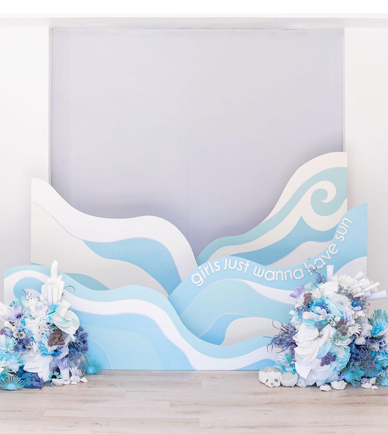 ocean waves photo backdrop