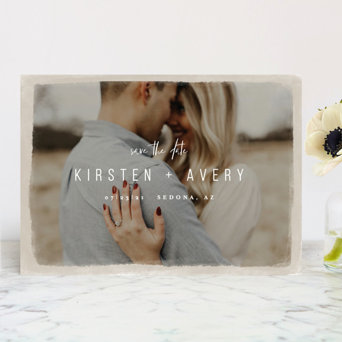 Minted Save the Date using Engagement Photo