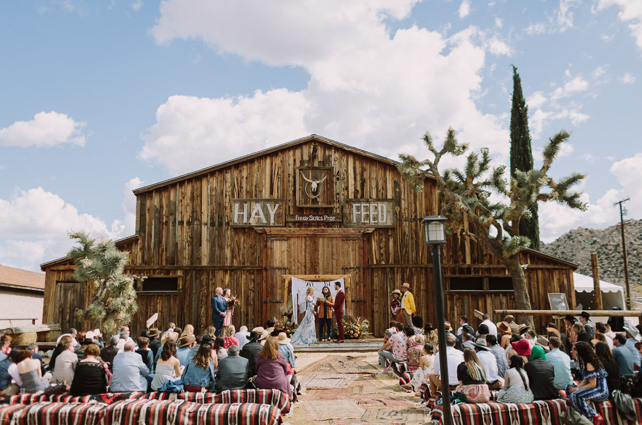 Boho Pioneertown Desert Wedding