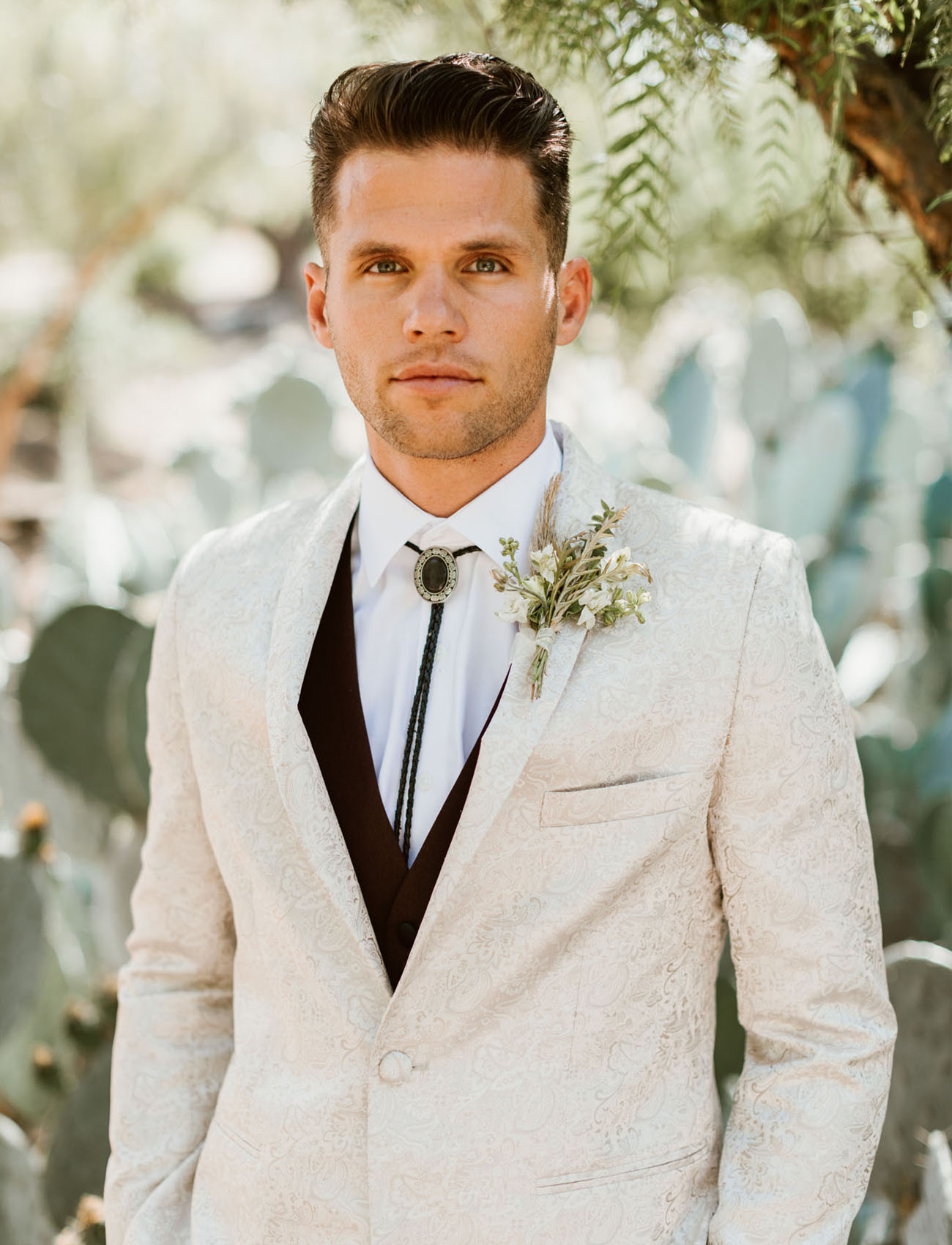 ivory jacket groom