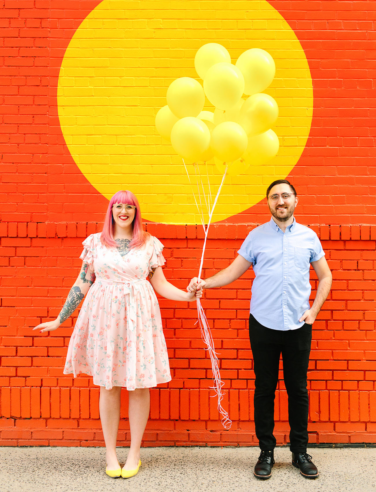 Colorful New York Engagement Shoot
