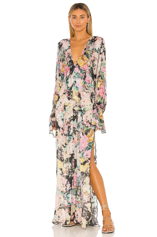 boho floral bridesmaid dress
