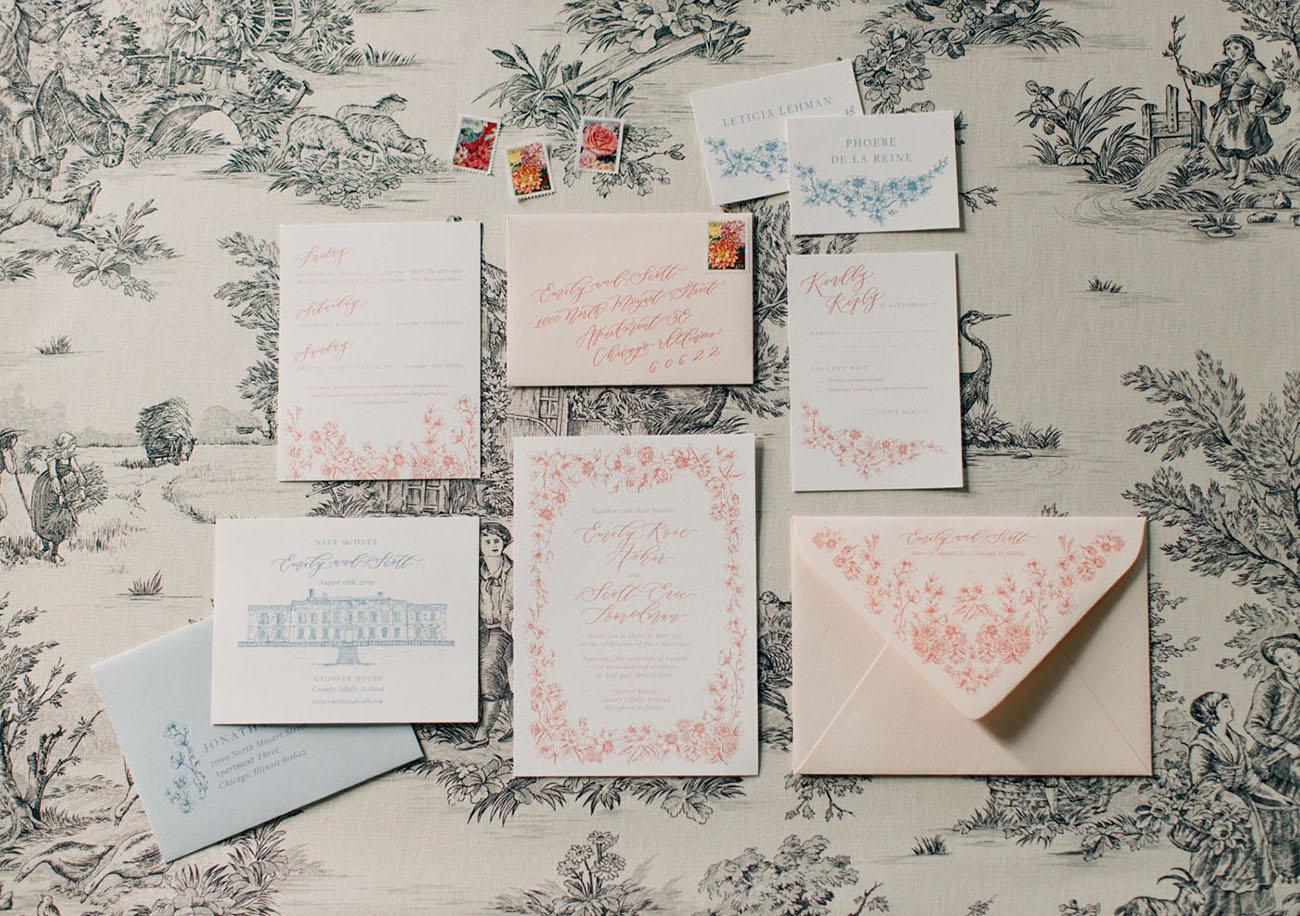 vintage inspired invitations