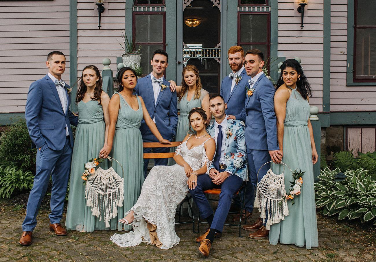 Tropical New York Inspired Wedding