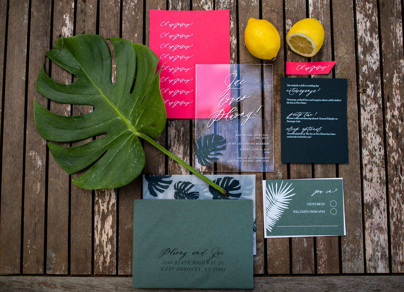 Tropical New York Inspired Wedding