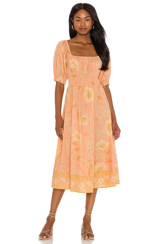 boho peach spell dress