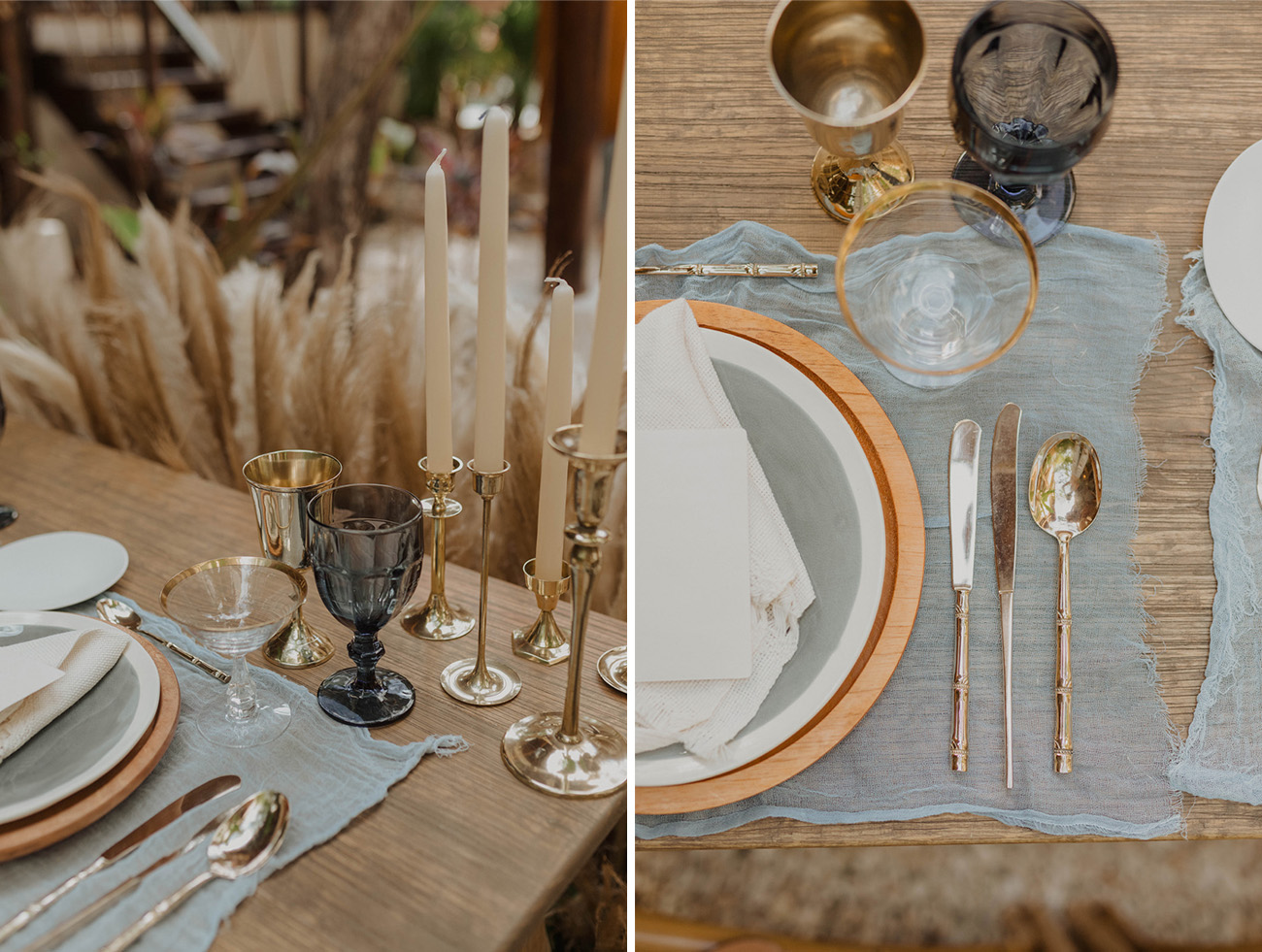 table details for a Tulum wedding