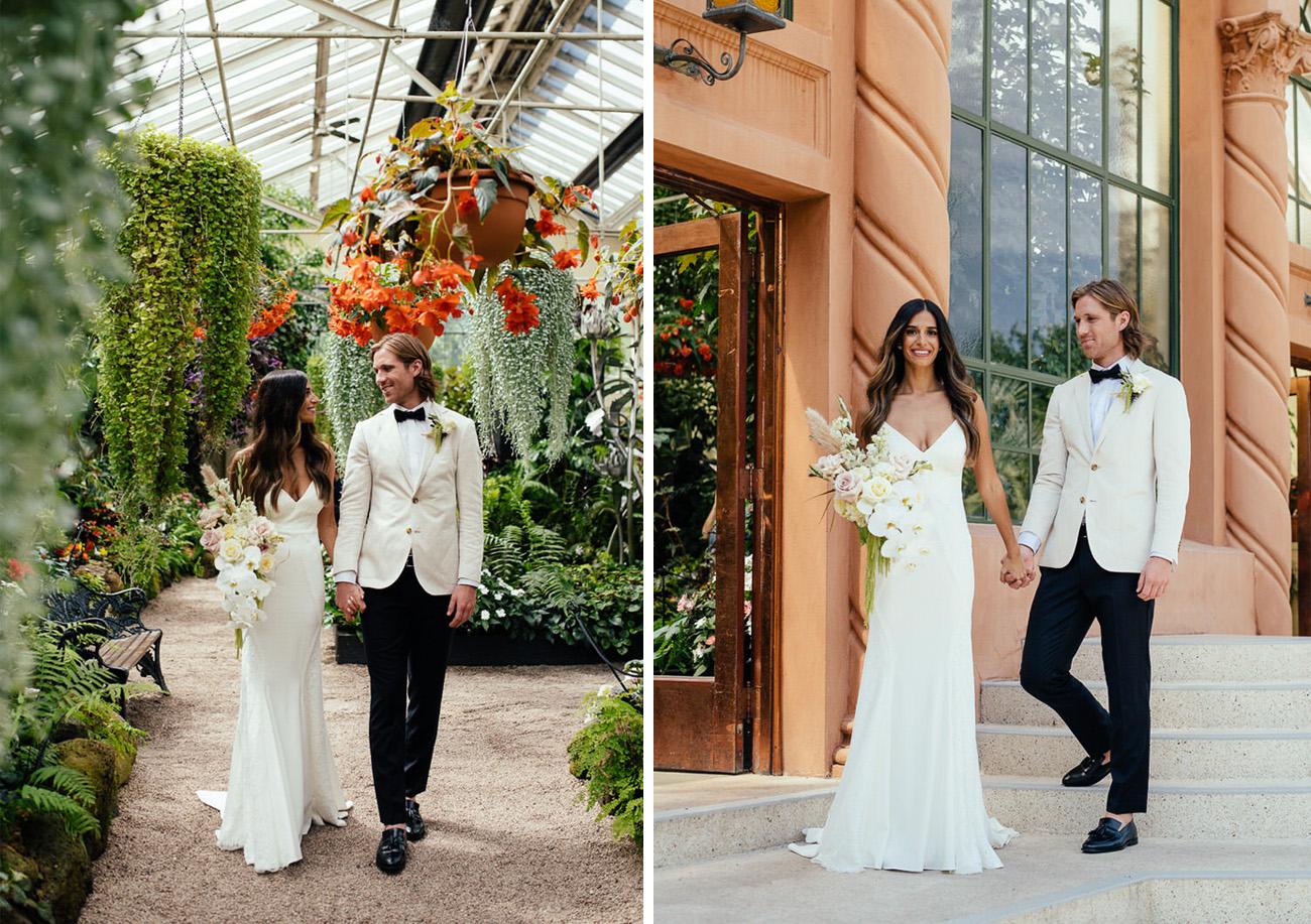 Wyatt Gown for a Botanical Wedding