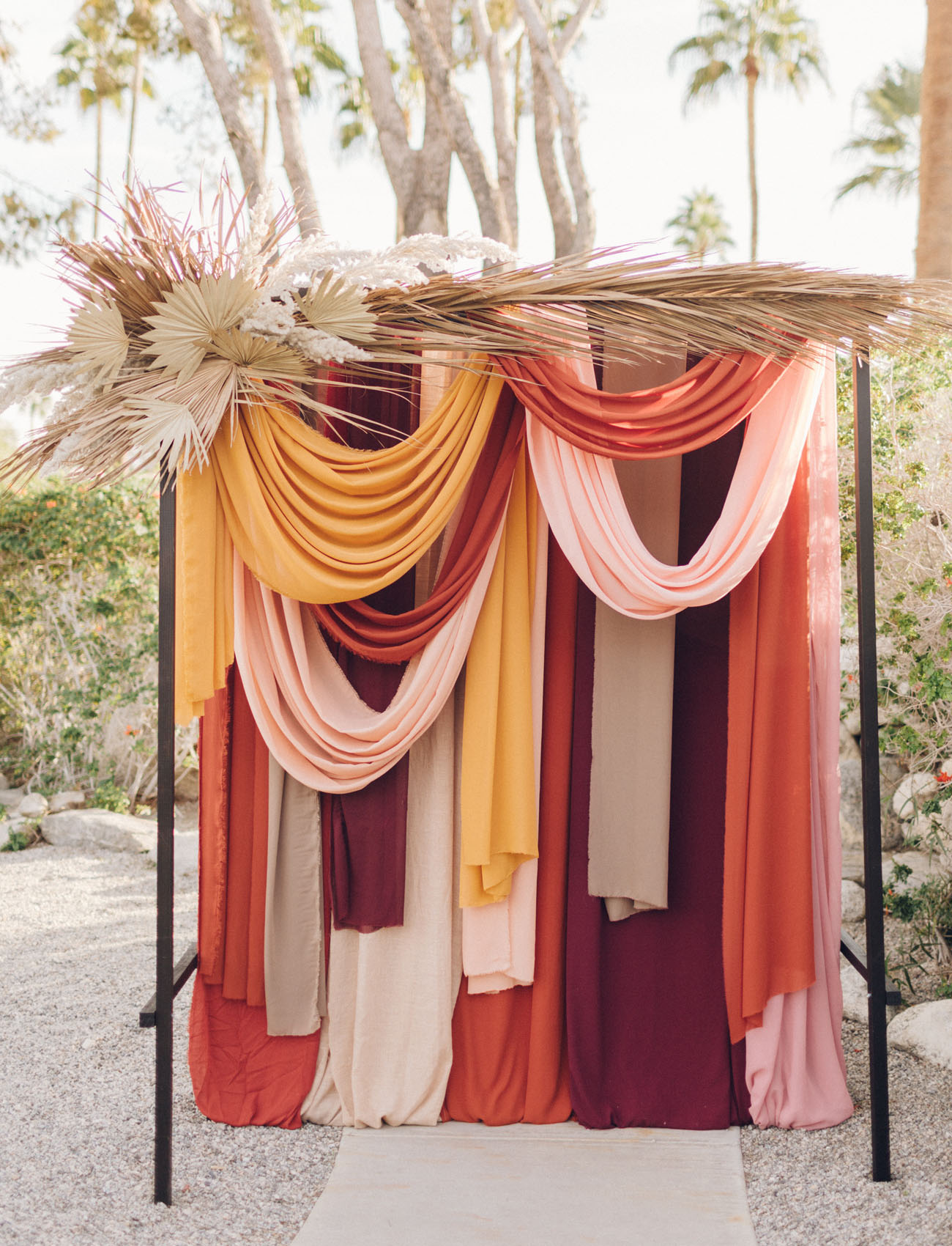 fall wedding color palette fabric backdrop