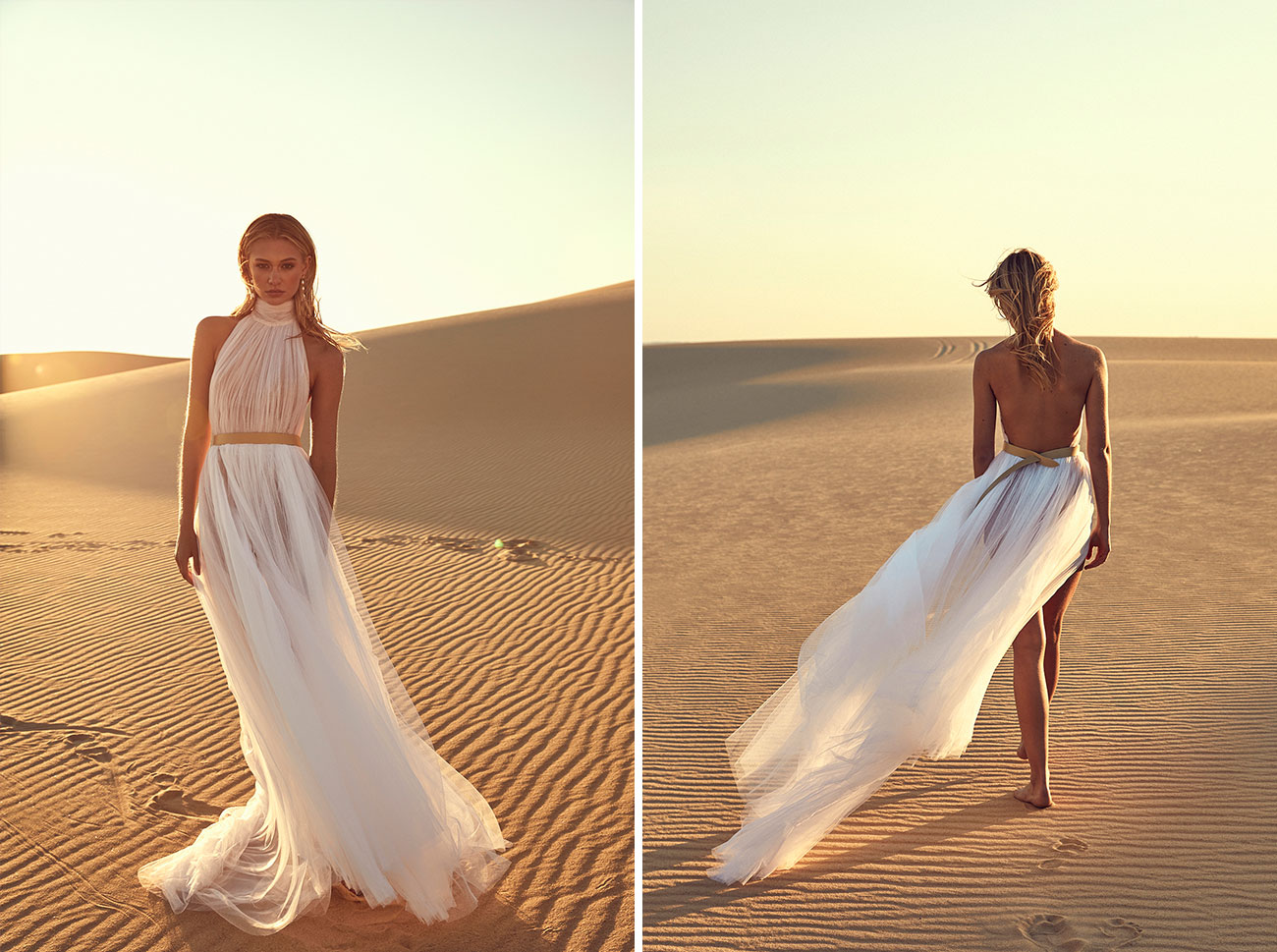 bride in whimsical, sexy wedding dress from CHOSEN by One Day