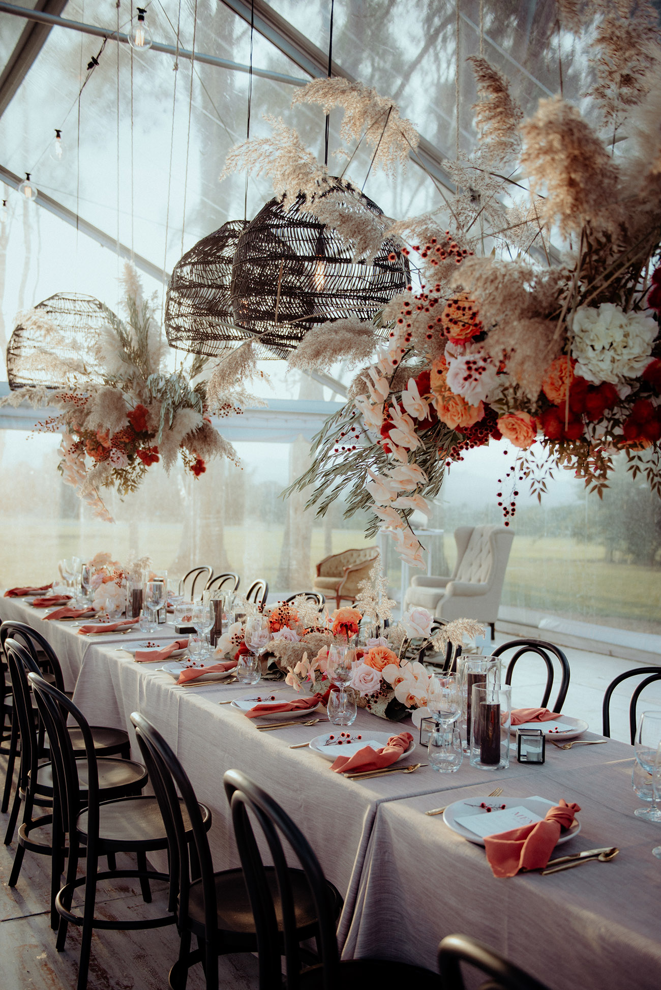 dreamy fall wedding reception inspiration