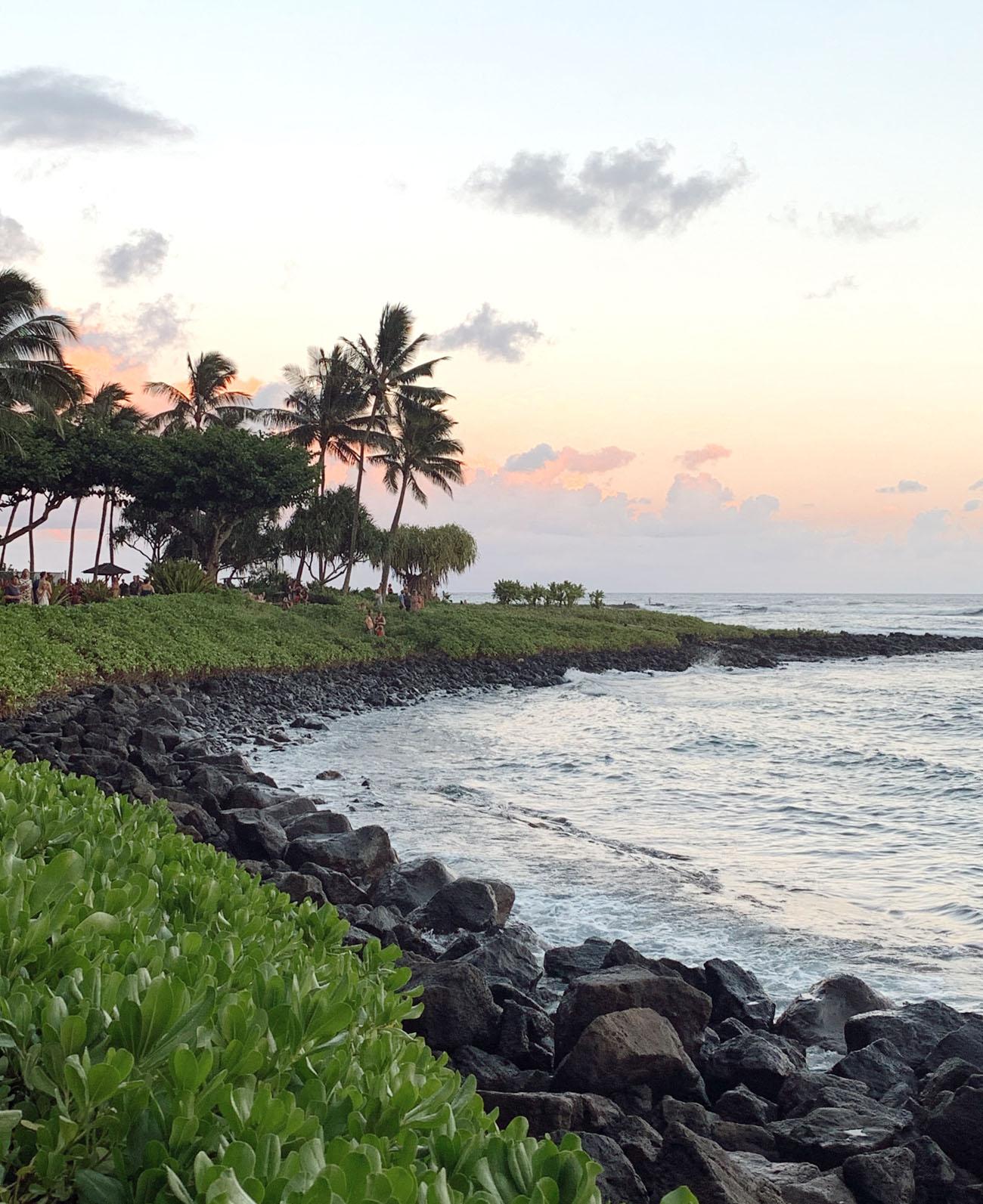 The beach by the Ko'a Kea Hotel in Kauai