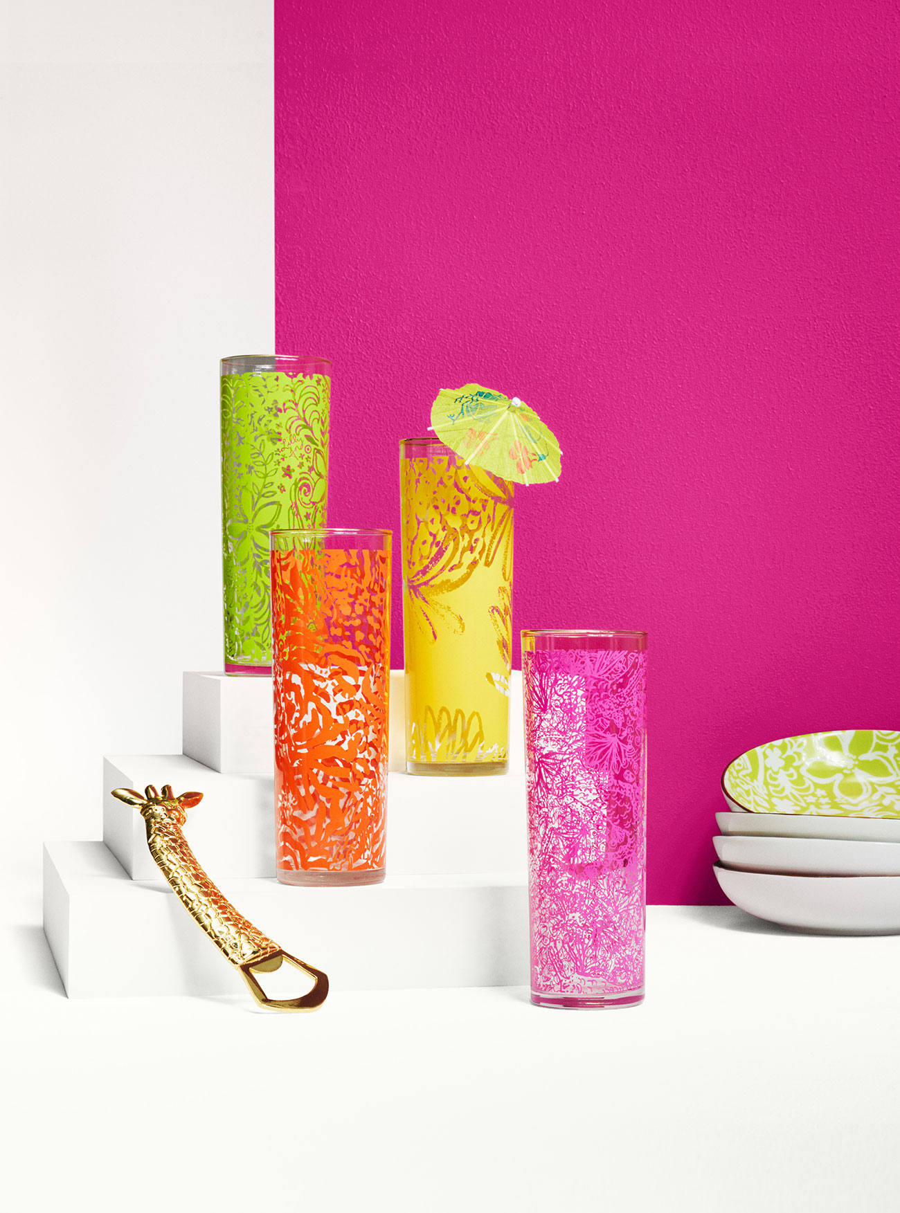 Lilly Pulitzer Cocktail Glasses