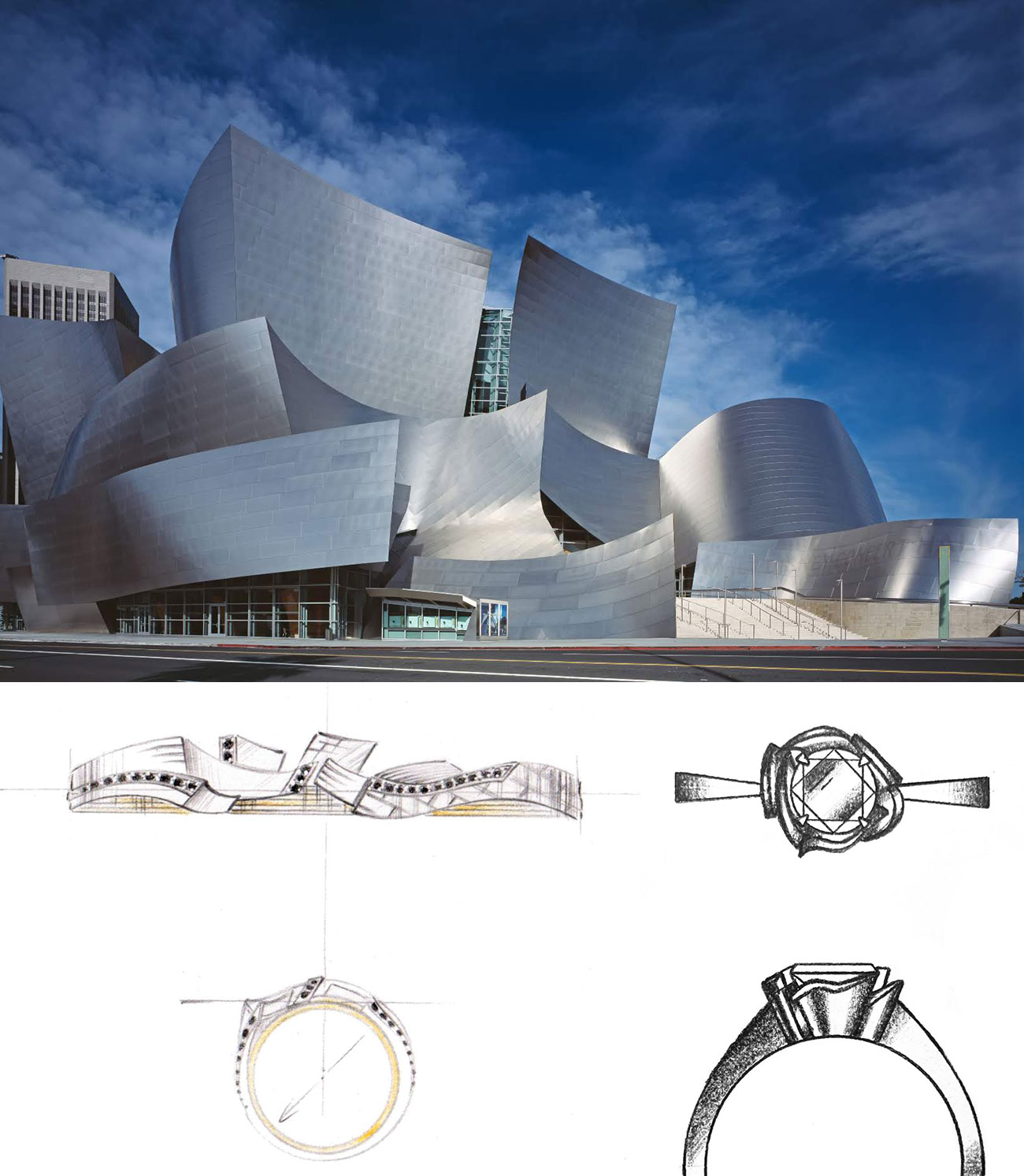 CustomMade engagement ring inspired by Los Angeles